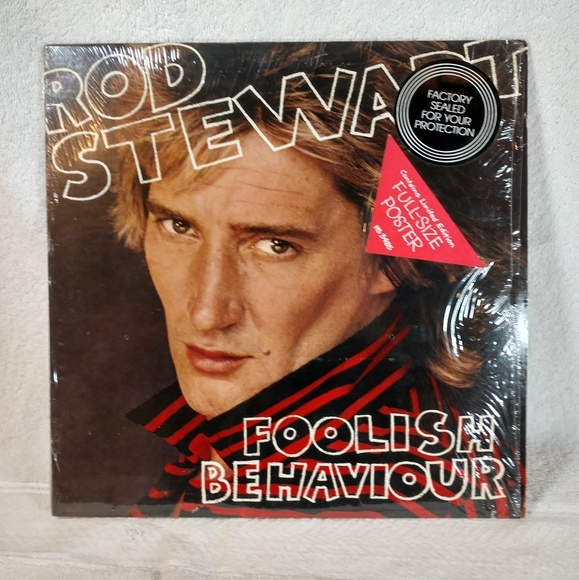 Vintage 1980 Rod Stewart Foolish Behavior Vinyl Lp